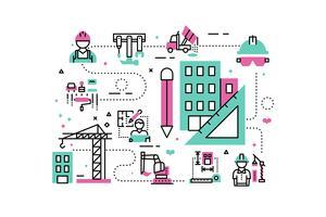Bouw project illustratie vector