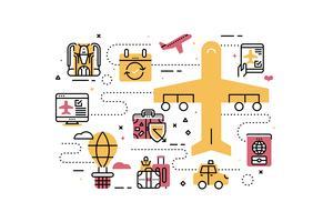 Reizen en transport vector