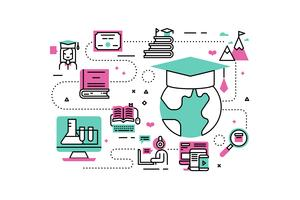 Online Degree-illustraties vector