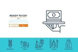 Opstarten zakelijke websjabloon vector