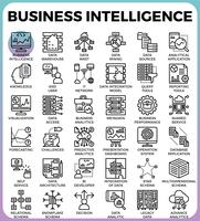 Business intelligence (BI) concept pictogrammen