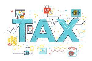 Bedrijfsconcept belastingteruggave vector