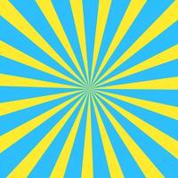 Geel en blauw zomer abstracte komische Cartoon zonlicht achtergrond. Vector illustratie.