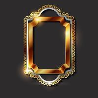 Decoratieve vintage gouden kaders en grenzen