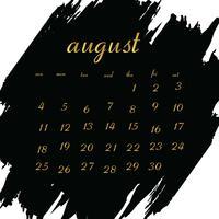 Kalender 2019 voor uw project vector