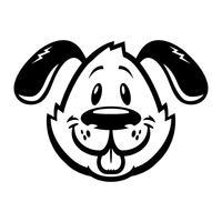 Leuke vriendelijke cartoon hond