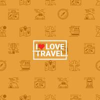 Reizen concept naadloze oranje achtergrond vector