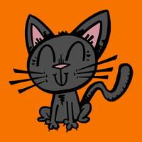 Halloween zwarte kat vector