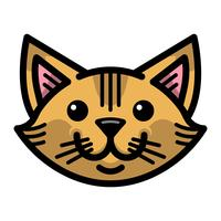 Leuke vrolijke vriendelijke cartoon kat