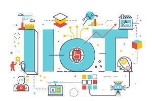 IIoT: industrial internet of things vector