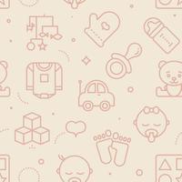 Pastel naadloze baby patroon vector