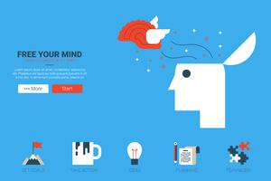 bevrijd je mind-concept vector