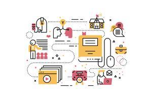 Online opleiding vector