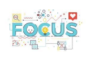 Focus woord voor bedrijfsconcept vector