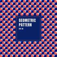 Abstracte blauwe, rode, witte geometrische cirkels patroon achtergrond met kopie ruimte.