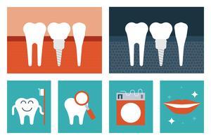 Tandheelkundige zorg concept vector