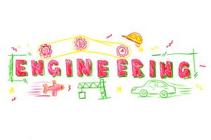 Engineering woord illustratie