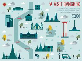 Bezoek Bangkok vector