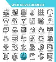Web ontwikkeling pictogrammen vector
