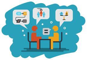 menselijke hulpbron, interview pictogram illustratie vector