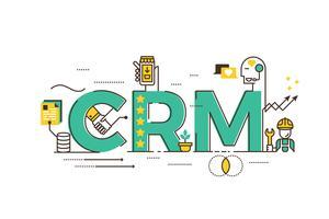 CRM: klantrelatiebeheer vector