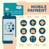 Mobiele betaling vector