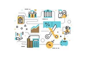 Belastingen en financiënillustratie vector