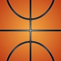 Realistische basketbal textuur illustratie. vector