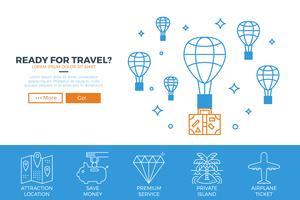 Reissjabloon voor websites