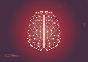 menselijke hersenen hemisferen illustratie vector