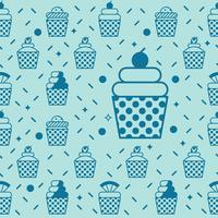 Cupcake naadloze achtergrond vector
