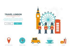 Reis Londen Concept vector