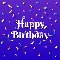 Gelukkige verjaardag met kleurrijke confetti kaartsjabloon