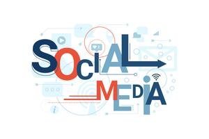 Social Media Word Typografie