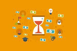 Tijd geld concept