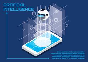 Kunstmatige intelligentie illustratie vector