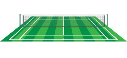 tennisbaan met netto vectorillustratie