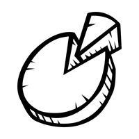 Cirkeldiagram Vector pictogram