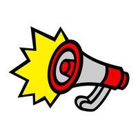 Megafoon Luidspreker Bullhorn Aankondigingswaarschuwing
