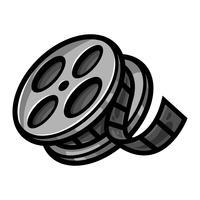 Bioscoopfilm Filmrol Afspoelen vector