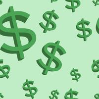 Dollar teken groene vector