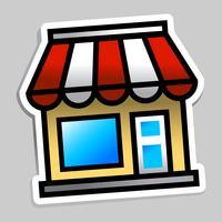 Zakelijke winkel vector
