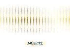 Halftone van het abstracte gouden puntenpatroon op witte achtergrondluxestijl.