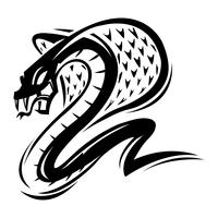 Dodelijke cobra slang illustratie vector