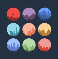 Druk stedelijke landschappen af vector