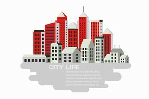 Stad gebouw vector