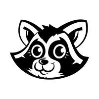 wasbeer dierengezicht vector