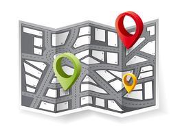 De navigatiekaart vector