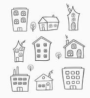 schetsen van huizen