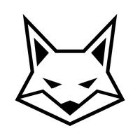 Fox gezicht logo vector pictogram